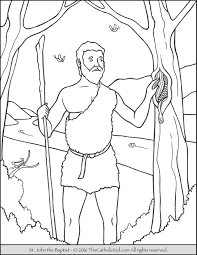 Free Catholic Saints Coloring Pages For Kids With Saint John The