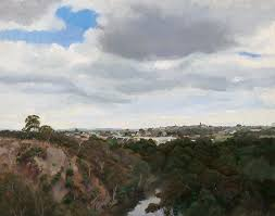 alexandra sassé clear day camberwell oil on canvas
