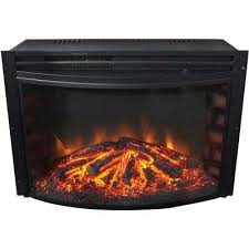 25 in freestanding 5116 btu electric curved fireplace insert