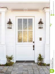 white front door. White Front Door To Classic Home Stock Photo - Image Of Building, Light: 39177176 E
