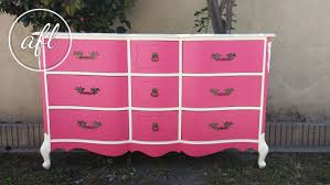 pink painted furniture. Hot Pink French Provincial Dresser Painted Furniture S