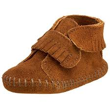 Minnetonka Front Strap Bootie Infant Toddler