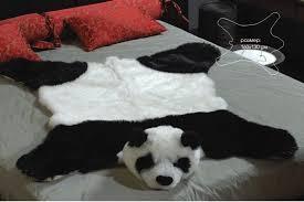 fake fur panda bear skin bearskin rug plush large size 63 51 inches new