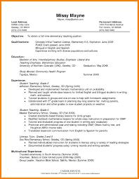 Sample Resume Objectives For Teachers 100 sample resume objective for teacher lpn resume 45