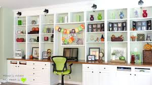 photo of desk shelf ideas with remodelaholic build a wall to wall built in desk and bookcase