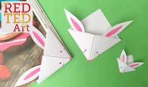 red ted art book easy paper bunny bookmark corner bonus video of red ted art book