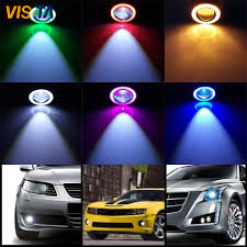 Fog Lights For Sale Us 34 39 20 Off Hot Sale Car Fog Lamps Assembly With 30w High Quality Cob Led Lens Angel Eyes Fog Lights Refitting Fisheye Lens Fog Lamps In Car