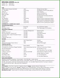 Beaufiful Acting Resume Example Pictures Professional Acting