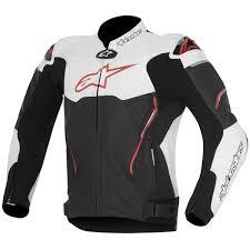 alpinestars atem leather jacket red black white thumb 0