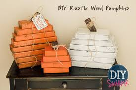 a tutorial on how to make these easy rustic wood pumpkins diy fall decor