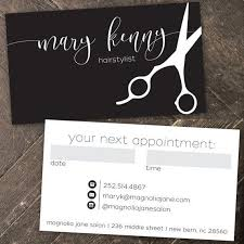 Modern Custom Hair Stylist Business Cards Professionally Printed