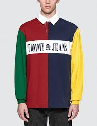 original tommy jeans 90s colorblock rugby shirt at indonesia bobobobo