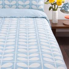 orla kiely grid stem sky duvet cover double at dotmaison