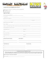 Business Account Application Business Credit Application Form Template Trade Trade Credit
