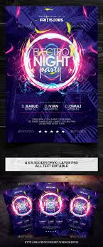 17 best ideas about event flyers flyer design electro night party flyer template vol 2