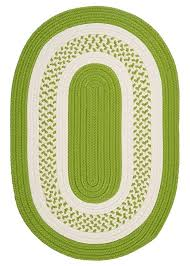 colonial mills braided rugs crescent bright green area rug