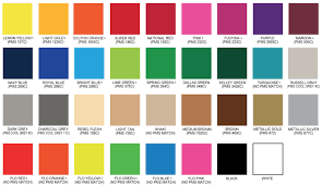 9 Gulfside Heat Transfers Ink Color Chart Blue Pms Color