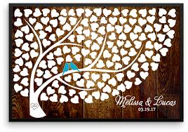 rustic wood frame png wedding tree guest book alternative poster print wedding tree guest book heart