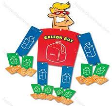 Superhero Gallon Guy Gallon Man Math Activities Teaching