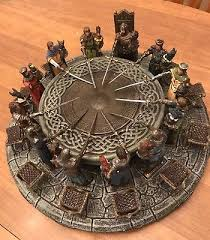 king arthur the knights of the round table sculpture meval figurine read d