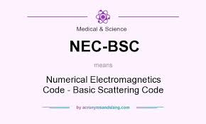 what does bsc stand for what does nec bsc mean definition of nec bsc nec bsc stands for