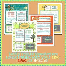 Newsletter Templates Pages Pages Modern Newsletter Template Set Create On The Go