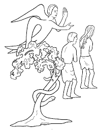 Small Picture Adam and eve coloring pages the serpent ColoringStar