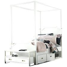 Canopy Bed With Storage Impressive On Wooden Canopy Bed Frame With ...