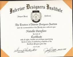 Interior Design Certificates