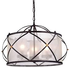 ross 3 light drum chandelier