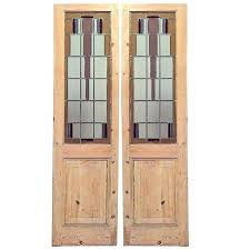 american door and glass pair of stained glass and stripped wood mission doors for american american door and glass