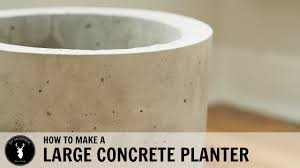 how to make a large concrete planter diy montreal