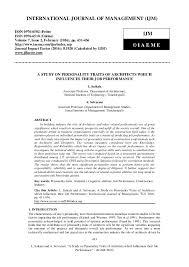 431 L. Saikala and A. Selvarani, A Study on Personality Traits of ...
