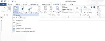 Word Mail Merge Create A Mail Merge Letter In Word 2013 Dummies
