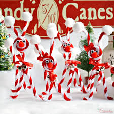 Christmas Decorations With Candy Canes Candy Cane Chenille Reindeer Little Miss Celebration A Little 28
