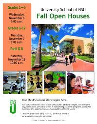 University School Of Nsu Hosts Open House Starts Nov 6 Nsu Newsroom