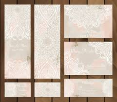 Set Of Watercolor Background With Mandalas Round Doodle