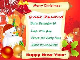 attractive christmas children party invitation ecard sample christmas invitations elegant and fancy christmas party invitation card colorful motifs and colorful font