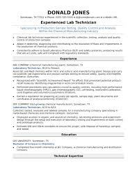 Lab Technician Resume Midlevel Lab Technician Resume Sample Monster