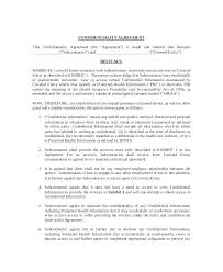 Confidentiality Agreement Free Template Confidentiality Agreement