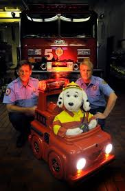 sparky the fire dog robot. sparky helps teach children about fire safety the dog robot 0