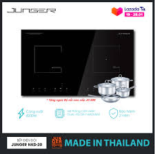 Bếp đôi điện từ hồng ngoại Junger NKD-20 - Công suất 4200W - mặt kính  Ceramic Bảo hành 2 năm chính hãng MADE IN THAILAND