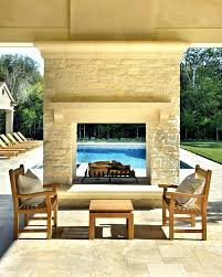 two sided outdoor fireplace double sided fireplace outdoor indoor