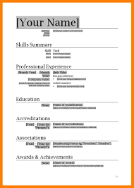Functional Resume Template Word Format 2007 Microsoft Templates