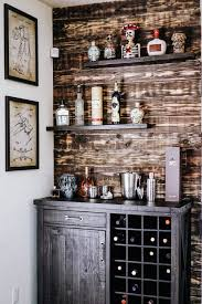 diy bar. DIY Home Bar Reclaimed Wood Wall And Shelves Diy
