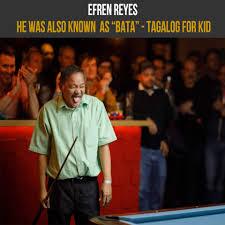 Interesting Efren Reyes Facts: He... - Legend Efren Reyes Billiard |  Facebook