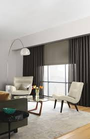 Window Treatments For Living Room Sheer Draperies And Complementary Automated Shades Create A