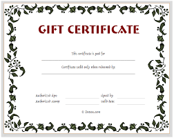 free printable gift certificate sles customizable certificates
