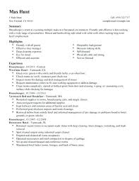 Housekeeping Resume Examples Magnificent Housekeeper Housekeeping Resume Sample Epic Cover Letter Template Cv