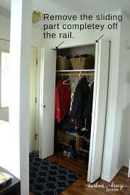 remove the sliding hardware from the top side of the doors convert bi fold closet